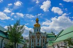 Kiev gran Lavra Fresco Church Gate fotografía de archivo