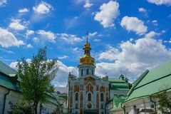 Kiev Great Lavra Fresco Church Gate stock photography