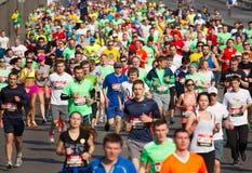 Kiev half marathon in Ukraine Stock Photo