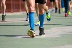 Kiev halv maraton i Kyiv, Ukraina Arkivbilder