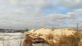 Kiev harbor in winter Royalty Free Stock Photography