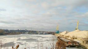 Kiev harbor in winter Stock Photos