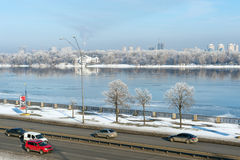 Kiev highways in winter Stock Photo