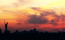 kiev horisont Royaltyfri Fotografi