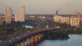 Kiev i aftonen lager videofilmer