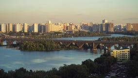Kiev i aftonen arkivfilmer