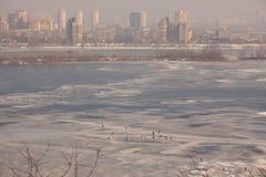 Kiev i vinter Royaltyfri Bild