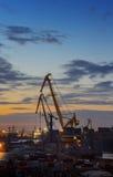 Kiev. Industrial Sunset Stock Image