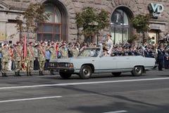 In Kiev on Khreshchatyk military parade Stock Photo
