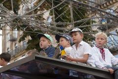In Kiev on Khreshchatyk military parade Royalty Free Stock Image