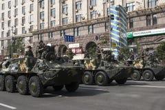 In Kiev on Khreshchatyk military parade Royalty Free Stock Photos
