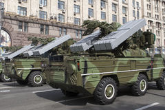 In Kiev on Khreshchatyk military parade Stock Images