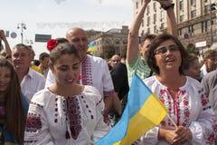 In Kiev on Khreshchatyk military parade Royalty Free Stock Photo