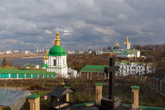 Kiev. Kiev-Pechersk Lavra. View of the cave. royalty free stock images