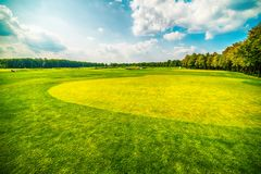 Kiev, Kiyv, Ukraine: the golf field in the Mezhyhirva Residence of former pro-russian President Viktor Yanukovych. Kiev, Kiyv, Ukraine: he golf field inthe royalty free stock photography