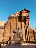 A monument to the Founding of Kyiv - Ukraine - KYIV or KIEV royalty free stock images