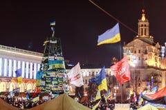 KIEV (KYIV), UKRAINA - DECEMBER 4, 2013: Hundratals tusentals p Arkivbilder