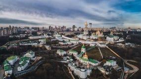 Kiev Lavra dall'altezza immagini stock libere da diritti