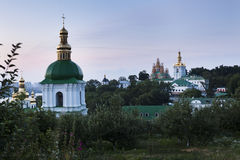 Kiev Lavra Domes River Stock Photos