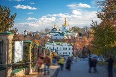 kiev lavra pechersk widok zdjęcia stock