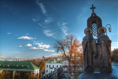 kiev lavra pechersk widok zdjęcie royalty free