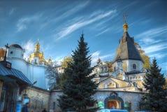 kiev lavra pechersk widok fotografia stock