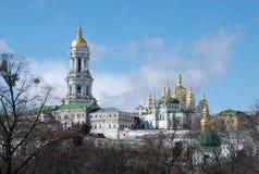 kiev lavrapechersk kyrkligt ortodoxt arkivbild