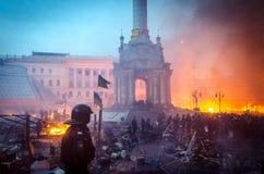 Kiev le 19 février 2014 Photos libres de droits