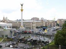Kiev Maidan efter revolutionen arkivfoton