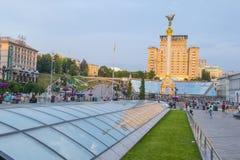Kiev Maidan Nezalezhnosti Royalty-vrije Stock Foto's