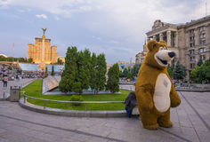 Kiev Maidan Nezalezhnosti Royaltyfri Foto