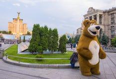Kiev Maidan Nezalezhnosti. KIEV , UKRAINE - JUNE 05 : The Maidan Nezalezhnosti in Kiev Ukraine on 05 June 2017 it is one of the city`s main squares located on Stock Image
