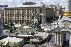 Kiev Maidan after the revolution Stock Photos