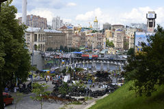 Kiev Maidan after the revolution Stock Photography