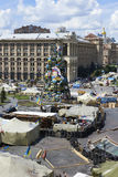 Kiev Maidan after the revolution Royalty Free Stock Image