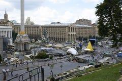 Kiev Maidan after the revolution Stock Image