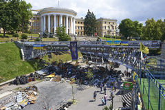 Kiev Maidan after the revolution Stock Images