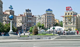 Kiev, main square of city Royalty Free Stock Images