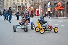 Children on Kreshatik in Kiev, Ukraine, Royalty Free Stock Images