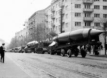 Kiev May Day military parade rockets 1964 Stock Images