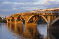 Kiev metro bridge Royalty Free Stock Photo
