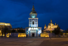 Kiev, Mihaylovskiy monastery at night Stock Image