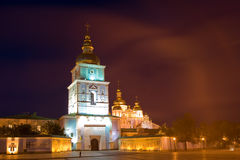 Kiev Mikh Night hor Stock Image