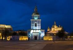 Kiev, monasterio de Mihaylovskiy en la noche Imagen de archivo
