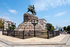 Kiev, monument Bogdan Khmelnitsky Royalty Free Stock Photo