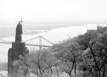 Kiev Monument to Prince Vladimir over Dnieper 1964 Royalty Free Stock Photo