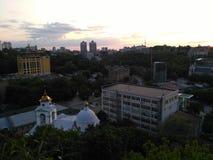 Kiev na noite foto de stock royalty free