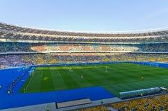 Kiev national stadium, Ukraine. KIEV,UKRAINE-MAY 10: interior  view of the olympisky stadium  on 10th may,2012, in Kiex,Ukraine. The city capital will host the Stock Image