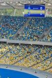 Kiev national stadium, Ukraine. KIEV,UKRAINE-MAY 10: interior  view of the olympisky stadium  on 10th may,2012, in Kiex,Ukraine. The city capital will host the Royalty Free Stock Images