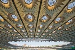 Kiev national stadium, Ukraine. KIEV,UKRAINE-MAY 10: interior  view of the olympisky stadium  on 10th may,2012, in Kiex,Ukraine. The city capital will host the Stock Photos